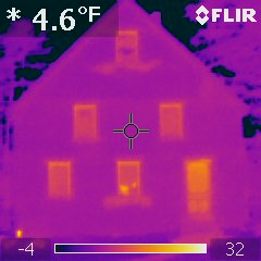 Infrared picture of house, after