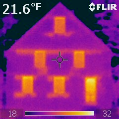Infrared picture of house, before